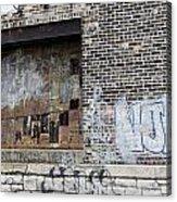 Warehouse Grafitti 2 Acrylic Print