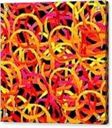 Warm Color Rings Acrylic Print