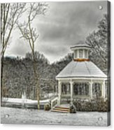 Warm Gazebo On A Cold Day Acrylic Print