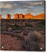 Warm Glow Over Arches Acrylic Print