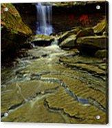 Warm Sky Cool Water Acrylic Print