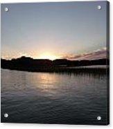 Warm Sunshine Lake Acrylic Print