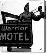 Warrior Motel Acrylic Print