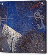 Warrior Petroglyph Acrylic Print