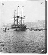 Warship Kaiser On Which Kaiser Wilhelm II Of Germany Came To Istanbul Acrylic Print