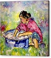 Washerwoman Beauty Acrylic Print