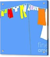 Washing Line Simplified Edition Acrylic Print