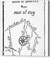 Washington: Book Of Surveys Acrylic Print