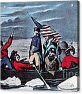 Washington Crossing The Delaware, 1776 Acrylic Print