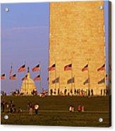 Washington Dc Sunset Acrylic Print