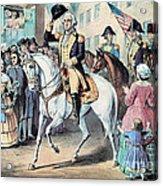 Washington Enters New York City After Acrylic Print