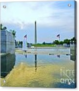 Washington Monument And The World War II Memorial Acrylic Print