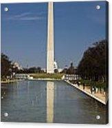 Washington Monument In Reflecting Pool Acrylic Print