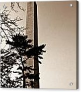 Washington Monument In Sepia Acrylic Print