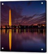 Washington Monument Reflections Acrylic Print