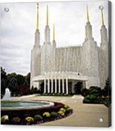 Washington Temple Acrylic Print
