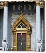 Wat Benchamabophit Ubosot Front Entrance Dthb1242 Acrylic Print