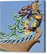 Wat Chaimongkol Pagoda Dragon Finial Dthb787 Acrylic Print
