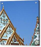 Wat Chamni Hatthakan Gables Dthb934 Acrylic Print