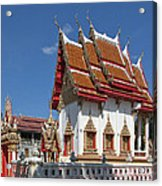 Wat Huai Phai Ubosot And Compound Dthu096 Acrylic Print