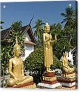 Wat Mai Buddhas Acrylic Print