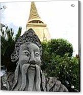 Wat Phrakaew Guardian Acrylic Print