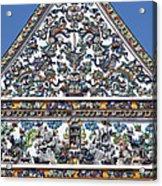 Wat Ratcha Orasaram Ubosot Gable Detail Dthb428 Acrylic Print