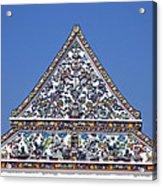Wat Ratcha Orasaram Ubosot Gable Dthb427 Acrylic Print