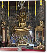 Wat Ratcha Orasaram Ubosot Interior Dthb859 Acrylic Print