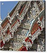 Wat Suan Phlu Ubosot Angel Gable Finials Dthb227 Acrylic Print