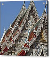 Wat Suan Phlu Ubosot Gable Dthb1132 Acrylic Print