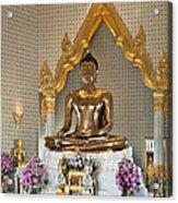 Wat Traimit Golden Buddha Dthb964 Acrylic Print