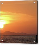 Watching A Sunset From The Jetty Acrylic Print by Thepurpledoor
