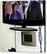 Watching Tv Acrylic Print