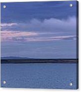 Water And Dark Clouds Acrylic Print by John Short