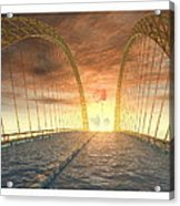 Water Bridge Acrylic Print