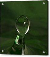 Water Drop Abstract Green 10 Acrylic Print