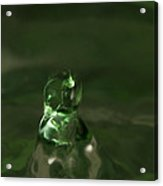 Water Drop Abstract Green 17 Acrylic Print