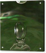 Water Drop Abstract Green 37 Acrylic Print