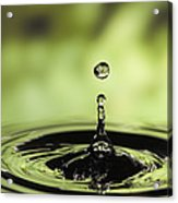 Water Drop And Ripples Acrylic Print