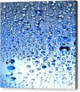 Water Drops On A Shiny Surface Acrylic Print