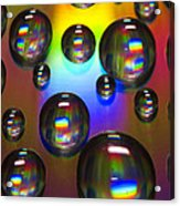 Water Drops On Cd Acrylic Print