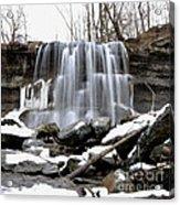Water Falls At Rock Glen Acrylic Print