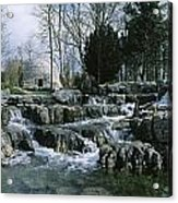 Water Flowing In A Garden, St. Fiachras Acrylic Print by The Irish Image Collection