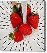 Water For Strawberries Acrylic Print