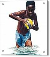 Water Game Acrylic Print by Gregory Jules