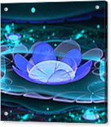Water Lilies In Wonderland 2 Acrylic Print