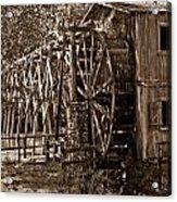 Water Mill In Action Acrylic Print by Douglas Barnett