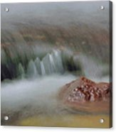 Water Movement Detail 8 Acrylic Print by Stephen  Vecchiotti