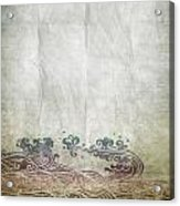 Water Pattern On Old Paper Acrylic Print by Setsiri Silapasuwanchai
